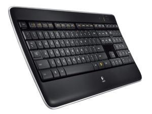 Logitech K800 Backlit Illuminated 2.4 GHz Wireless Keyboard BLACK 920-002359 + Unifiying Receiver