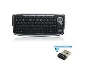 IOGear 2.4GHz Compact Wireless Keyboard with Optical trackball and Scroll Wheel