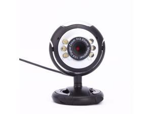 USB 6 LED Video Camera Webcam With Mic Microphone For PC Laptop Computer