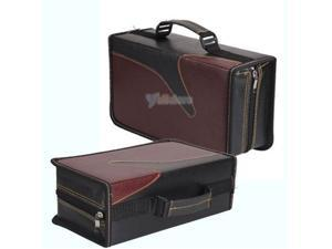 """E-buy World"" New Portable 128 Disc CD VCD DVD Storage Bag Wallet Holder Case Box Black Red"