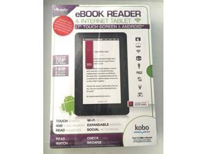 """EMATIC eBook Reader & Tablet 7"""" Touch Screen 720P HD 4GB Wi-Fi Android Kobo"""