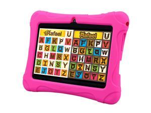 Pink 2016 Quad Core 7'' Tablet 16GB HD Android 4.4 Dual Camera WiFi Bundle for Kids