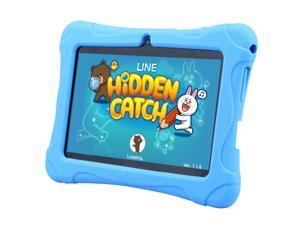Blue 2016 Quad Core 7'' Tablet 16GB HD Android 4.4 Dual Camera WiFi Bundle for Kids