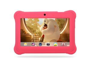 7'' inch Quad Core HD Tablet for Kids Android 4.4 KitKat Dual Camera WiFi Pink