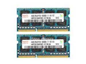 Hynix 8GB 2X 4GB PC3-8500 DDR3-1066MHz 204Pin Laptop Memory RAM so-dimm