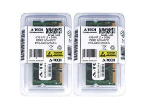 Atech 4GB Kit Lot 2x 2GB PC2-6400 6400 DDR2 DDR-2 800mhz 800 Laptop Memory RAM