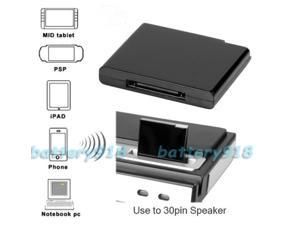 """E-buy World"" Bluetooth Music Receiver Adapter For iphone 4S 5,Ipad ipod 30-pin Dock Speaker"