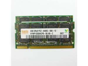 Hynix 4GB 2X2GB DDR2 PC2-6400 800MHz 200Pin Sodimm Laptop Memory