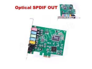 PCI-E PCI Express 8 Channel 7.1 SPDIF Audio Sound Card PC windows7/8