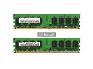Samsung 4GB 2X2GB pc2-5300 240pin DDR2 667Mhz Desktop Memory pc5300 DIMM