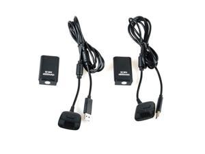 """E-buy World"" New 2x 4800mAh Battery Pack + Charger Cable for Xbox 360 Wireless Controller Black"