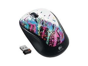 Logitech M325 Wireless Mouse - Celebration Black w/unifying receiver PC Mac