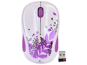 Logitech M325 3-Button Scroll Wheel 2.4 GHz USB Wireless Optical Mouse Purple Peace