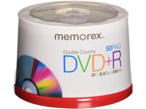 Memorex Dual Layer DVD+R 50-pack - 8X 8.5GB 240 mins