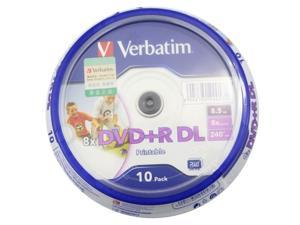10 pack Verbatim DVD+R DL 8X Dual Layer Printable 8.5GB Double Dual Layer D9