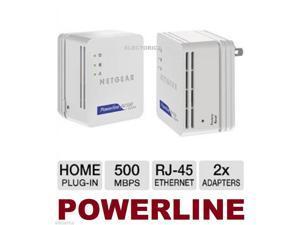 2 X NEW HOMEPLUG NETGEAR 500 Mbps POWERLINE ADAPTER NANO ETHERNET KIT PS4 IPTV