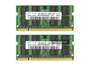 Samsung 4GB 2X2GB PC2-6400 DDR2-800 800Mhz 200pin Sodimm Laptop Memory