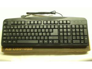 Black iMicro Basic Spanish USB Keyboard with 108 Keys KB-US919SB