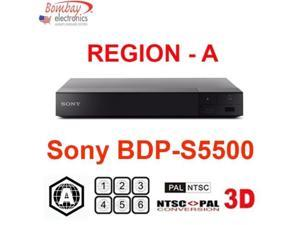 Sony BDP-S5500 Region Free DVD and Region A Blu-Ray Disc Player- 3D Support