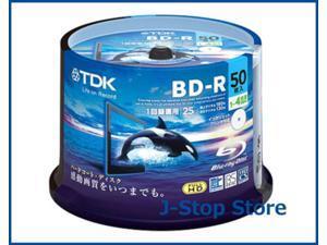 50 TDK Bluray Disc Inkjet Printable Blu ray 25gb 4x Speed BD-R Media