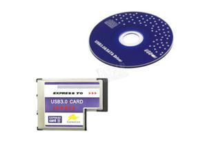 USB 3.0 Hidden Inside Adapter 54mm Slot PCMCIA 3 Port Express Card for Notebook