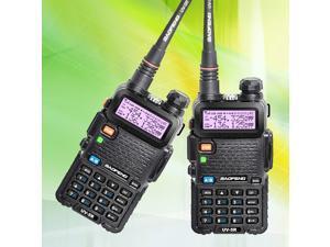 2 Pcs BAOFENG UV-5R VHF/UHF 136-174&400-520Mhz Ham Two-way Radio Walkie Talkie