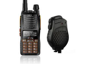 Pofung/Baofeng GT-5 VHF/UHF Walkie Talkie Ham Two-way Radio + Dual PTT Speaker