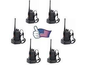 6x Baofeng BF-888S UHF 400-470MHz 5W Handheld Two-way Ham Radio HT Walkie Talkie