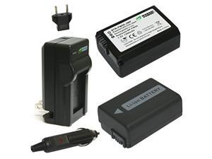 Wasabi Power Battery (2-Pack) and Charger for Sony NP-FW50 and Sony Alpha 7