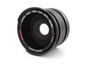 Wide Angle FISHEYE for 49mm Sony Alpha NEX-3,NEX-5,5ks,NEX-6,NEX-7 w/ 18-55 lens