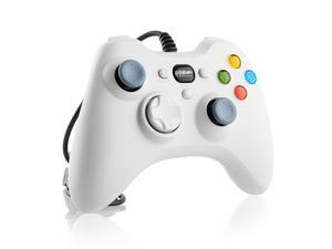 White Wired USB Controller Gamepad Resembles XBox360 for PC Computer Laptop