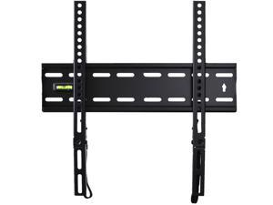 "VideoSecu Low Profile Super Slim Heavy Duty TV Wall Mount Bracket for 26 27 29 32 37 39 40 42 43 46 47 49 50"" LED LCD Plasma 3D HDTV Flat Panel Screen with loading 110lbs, VESA 400x400mm 1RX"