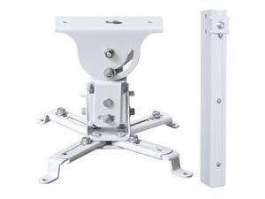 VideoSecu Tilt Swivel Rotate LCD DLP Projector Ceiling Mount Bracket Fits Flat or Vaulted Ceiling with Extendable Pole - Height Adjustable/ Cable Management 3CA