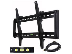 VideoSecu Tilt TV Wall Mount for most 39-60 inch LCD LED HDTV Flat Panel Screens- Cable management/ Free HDMI cable and Bubble level M33