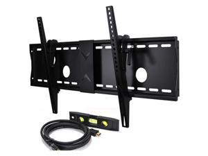 VideoSecu Tilt TV Wall Mount for Samsung 37 39 40 43 46 48 50 51 55 58 60 64 65 75 inch UHD LED LCD Plasma Flat Panel Screens Displays Free HDMI Cable and Bubble Level 3KR