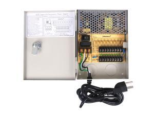 VideoSecu 9 CH CCTV Security Camera Distributed Power Supply Box 12V DC Key Lock Surveillance 1t9