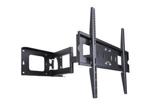 "VideoSecu Articulating Arm Full Motion Swivel Tilt TV Wall Mount for 32 37 39 40 42 46 47 50 55"" LCD LED Plasma Flat Panel Screens Displays 3D HDTV - Level Adjustment w3e"