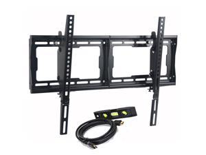 VideoSecu LCD LED UHD HDTV Tilt TV Wall Mount for most 32 37 39 40 42 47 49 50 55 60 65 inch TV Displays with Free 10ft HDMI Cable & Bubble Level BG3