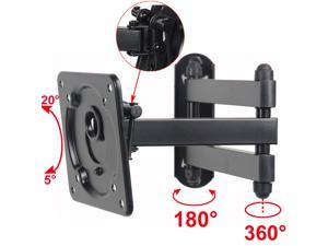 "VideoSecu Full Motion TV Wall Mount for most 15 17 19 20 24 26 27 28 29"" Monitor LCD LED HDTV Heavy Duty Bracket with Tilt Swivel Articulating Arm - 44lbs, VESA 75x75/100x100mm b0y"