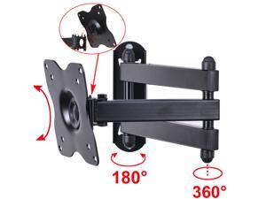 "VideoSecu Articulating Tilt Swivel LCD LED TV Wall Mount for most 17 19 20 22 23 24 26 27 28"" Monitor Flat Panel Screens, Full Motion TV Bracket with VESA 100x100/ 75x75 BHP"
