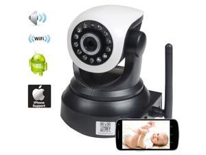 VideoSecu Baby Monitor and Nanny Security IP Network Camera Audio Video Wi-Fi Wireless for iPhone iPad Android and PC, Home Surveillance Camera Pan Tilt Infrared IR Day Night Vision AF1