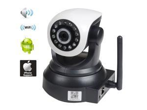 VideoSecu Baby Monitor and Pan Tilt IR Day Night Vision Remote View IP Network Surveillance Security Camera with Audio Video Wi-Fi for iPhone iPad Android and PC Home CCTV AF1