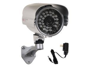 VideoSecu Outdoor IR Day Night Vision Bullet Security Camera Infrared Weatherproof 1/3 inch CCD 3.6mm Wide Angle Lens with Free Power Supply C91