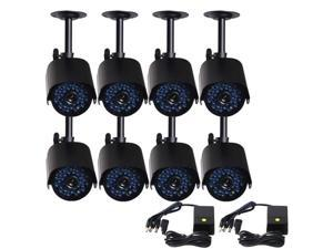 VideoSecu 8 Pack Outdoor Weatherproof Indoor Security Camera IR Day Night Vision 36 Infrared LEDs for Home CCTV Surveillance DVR System b1t