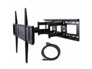 "VideoSecu Full Motion Articulating Arm Tilt Swivel TV Wall Mount Bracket for most 32""- 60"" LED LCD Plasma UHD HDTV Flat Panel Screen Display with VESA 600x400/ 400x400/ 400x300mm, loading 135lbs BK7"