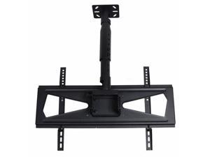 VideoSecu Tilt TV Ceiling Mount for most 39-65 inch LCD LED HDTV Plasma with VESA 600x400/ 400x400mm, Loading 135lbs, Height Adjustment/ Cable Management bt9