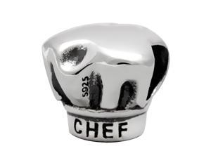 Babao Jewelry Chef's Hat 925 Sterling Silver Bead fits Pandora European Charm Bracelets