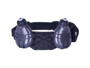 FuelBelt Helium H20 2-Bottle Hydration Belt: Black/Black One Size