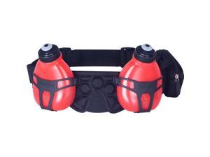 FuelBelt Helium H20 2-Bottle Hydration Belt: Black/Rush Red One Size
