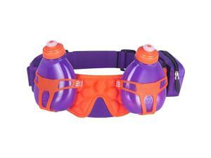FuelBelt Helium H20 2-Bottle Hydration Belt: Grape/Orange Crush One Size